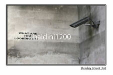 "BANKSY STREET ART ""SECURITY CAMERA"" - LARGE PHOTO LOOKS GREAT FRAMED -"