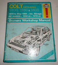 Classic Car Mitsubishi Colt  Workshop Repair Manual Book  1979-1984