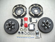 "Add Brakes Complete Kit 6x5.5 Drums, 12"" Electric Backing Plates, 7000# Trailer"