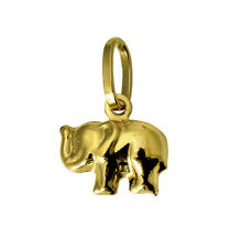 14K Yellow Gold Small Elephant Charm Pendant