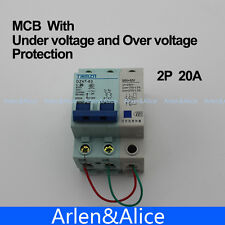 2P 20A 400V~ 50HZ/60HZ MCB MN+MV with over voltage and under voltage protection