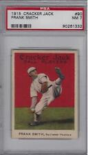 1915 Cracker Jack #90 Frank Smith PSA NM 7 ~Baltimore Feds.~Nice Pose~