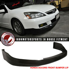 06-07 Honda Accord 4Dr HFP Style Front Bumper Lip Urethane
