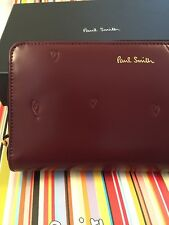 Paul Smith Women Purse Large Zip Around Hearts With Box Made In Spain RRP£295