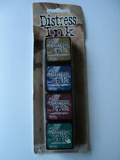 TIM HOLTZ DISTRESS INK MINI PACK #12 TDPK40422 BNIP 4 MINI INK PADS *LOOK*
