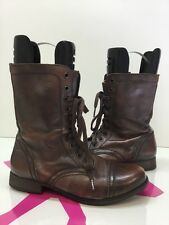 Steve Madden Troopa Brown Leather Ankle Women  Boots Size 7M