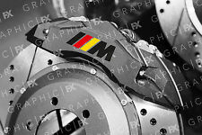 x6 Premium BMW M Sport Logo Vinyl Brake Caliper Decals - German