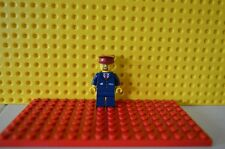 Genuine LEGO Train Minifigure Driver Conductor Railway Worker From Set 60051