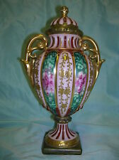 Antique German  Rudolstadt double handled  porcelain urn