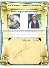 Pat Buttram & Hildegrade Autographs Mr Haney Green Acres American Cabaret Singer