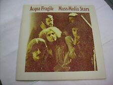 ACQUA FRAGILE - MASS-MEDIA STARS - REISSUE LP VINYL 1991 CONTEMPO
