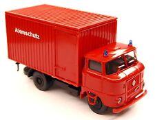 H0 W 50 L / NKP Feuerwehr Atemschutz Kofferaufbau Stahlleichtbaukoffer Blaulicht