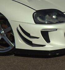 Toyota Supra mk4 Front Bumper CARBON FIBRE Canards 4pcs, fits most bumpers v4