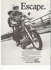Honda 400F2 classic period motorcycle advert 1978