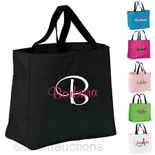 Custom Personalized Monogrammed Tote Bag Bridesmaid Gift Dance Wedding Embroider