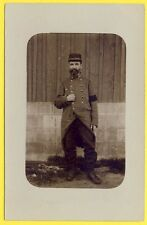 cpa CARTE PHOTO Soldat Militaire Poilu 20eme Régiment Brassard