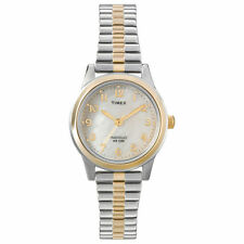Timex T2M828, Women's 2-Tone Expansion Watch, Indiglo,T2M8289J