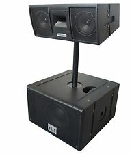 """MUSYSIC Professional Line Array Active 2000W 10"""" Base with 2x6"""" Speaker System"""