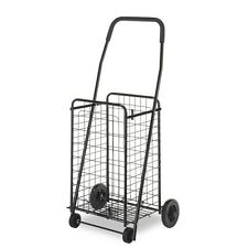 Rolling Utility Cart Basket Laundry Grocery Shopping Mobile Fold Up Lightweight