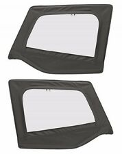 Smittybilt Upper Door Skin Set Black Denim 1988-1995 Jeep Wrangler YJ 89615