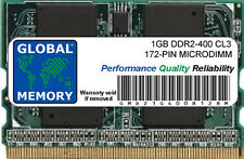 1GB DDR2 400MHz PC2-3200 172-PIN MICRODIMM MEMORIA RAM PARA PORTÁTILES/NOTEBOOKS