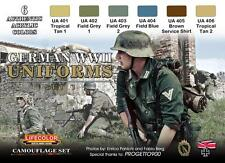 LifeColor CS04 German WWII Uniforms Set 1 6x 22ml Acrylic Colours