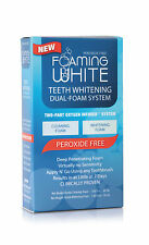 FOAMING WHITE Dual Foaming System (2 step) PEROXIDE-FREE TEETH WHITENING