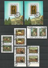 Madagascar 1987 Pushkin Museum Moscow Paintings Gemälde Set Ersttagsstempel ESST