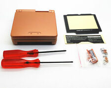GBA SP Game Boy Advance SP Replacement Housing Shell Screen Lens Copper Orange!
