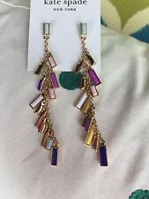 "Kate Spade Statement Charming Chips 2.5"" Drop Colorful Earrings"