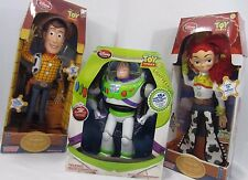 Disney Store Toy Story Talking Lot 3 Doll Set Woody Jessie Buzz Lightyear Dolls
