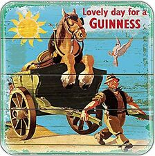 Guinness Horse & Cart epoxy fridge magnet  75mm x 75mm    (sg)