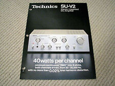 Technics SU-V2 integrated amplifier brochure catalogue