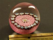 Vintage Cane Millefiori Murano  Fratelli Toso  Mosaic Paperweigh Pink