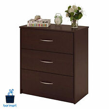Cherry 3 Drawer Dresser Bedroom Storage Drawers Furniture Chest