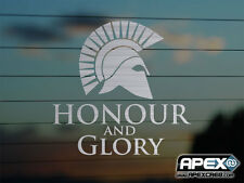 Honour and Glory! Sparta Gladiator - Patriot Metal Vinyl Sticker