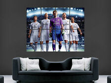 REAL MADRID POSTER RONALDO BENZEMA RAMOS FOOTBALL CLUB ART PICTURE PRINT LARGE