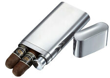 Visol Products Palencia Stainless Steel 2 Finger Cigar Case with Flask SALE