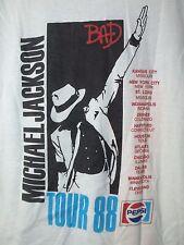 Michael Jackson 1988 88 vintage tour BAD concert t shirt size L