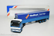 LION CAR MERCEDES BENZ NEDLLOYD ROAD CARGO TRUCK WITH TRAILER MINT BOXED