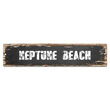 SP0360 NEPTUNE BEACH Street Sign Bar Store Cafe Home Kitchen Chic Decor Gift