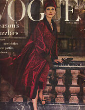 VOGUE November 1, 1955 11/1/55 COVER PHOTO BY HENRY CLARKE