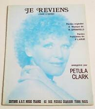 Partition vintage sheet music PETULA CLARK : Je Reviens (Take a Hand) * 70's