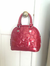 HELLO KITTY Loungefly Sanrio Red Embossed pearlized Patent PVC Quilted Handbag