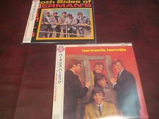 HERMAN'S HERMITS S/T & BOTH SIDES JAPAN REPLICA LIMITED OBI CDS WITH BONUS CUTS