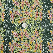 AUSTRALIAN ABORIGINAL QUILTING FABRIC - PLATYPUS GREEN sold by FQ and METRE