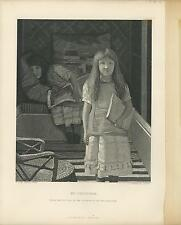 ANTIQUE CHILDREN GIRL CHILD ARTIST LAWRENCE ALMA TADEMA OLD ART ENGRAVING PRINT