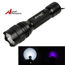 Romisen RC-B12 Q5-UV LED 2 Mode 800 Lumens 18650/CR123A Flashlight Black
