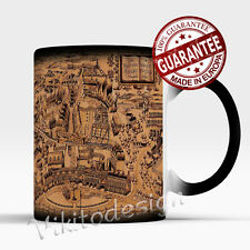 HOGWARTS MAGIC MAP - Harry Potter Marauders Map themed Magic Color Changing Mug