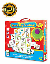 Match It Listen Play Bingo Farm Electronic Games Great Fun for Kids and Toddlers